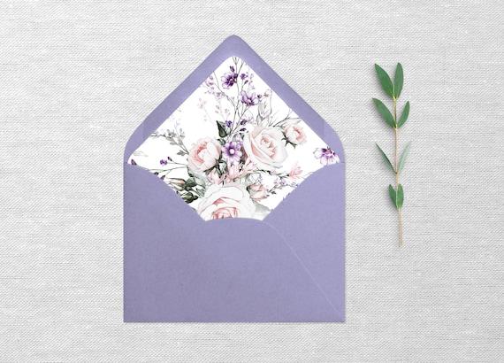 Ultra Violet A Envelope Liner Template Floral Envelope Liners