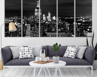 New York City Skyline Wall Art Canvas Print