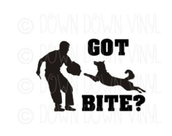 "Got Bite? | 5"" Vinyl Decal 