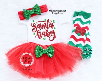 Baby First Christmas Outfit Girl, Baby Christmas Tutu, My First Christmas, Baby First Christmas Outfit, Baby First Christmas Bodysuit HC5