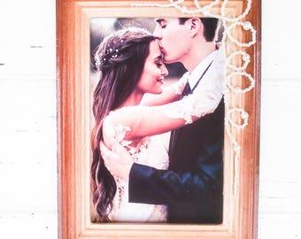 Wedding frame, Rustic photo frame , Frames wooden, Rustic wedding portrait frame, Rustic wedding gift, wedding decorations, rustic decor