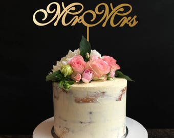 Mr and Mrs Cake Topper, Wedding Cake Topper