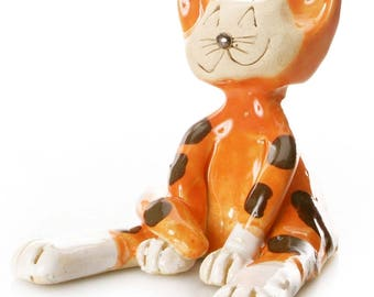 Ginger Cat | Gift for a Cat Lover | Quirky Gift or Home Decor | Beautifully Handmade Ceramic