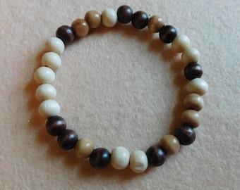 Wooden Stretch Bead Bracelet