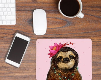 Mousepad Sloth Lady MP19