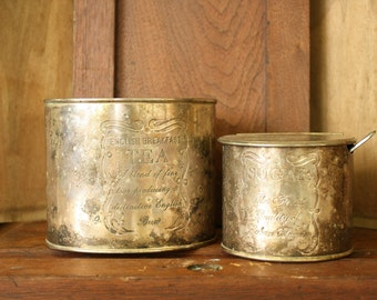 Silver plated tea and sugar containers