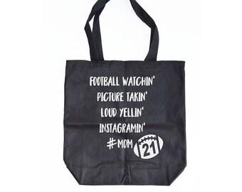 Football Mom Tote - Football Mom bag, Game Day Bag, Football Mom Accessories, Football Tote, Sunday Funday, #Mom