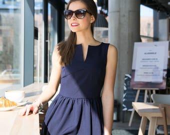 FLIRTY navy blue dress