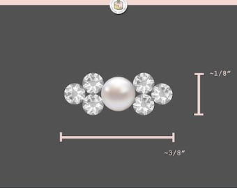 "Bridal Belt, Crystal & Pearl Clusters Belt Only, Swarovski, Cake Topper, Wedding, Custom, Hand Painted, Keepsake, 0.125"" x 0.375"", Accessory"