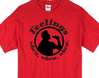 Funny Feelings inspired 1970s lounge singer tee. Makes a great gift for a singer or karaoke enthusiast.