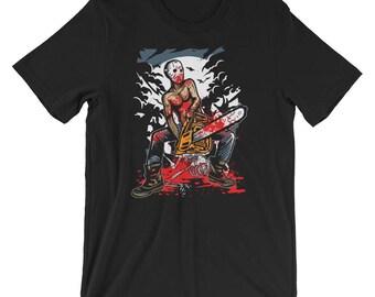 Hockey Mask Chainsaw Massacre Short-Sleeve Unisex T-Shirt