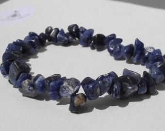 Sliver bracelet lapis lazuli pur