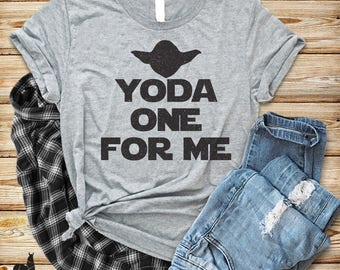 Yoda One For Me T Shirt, Funny Star Wars T Shirt, Valentines Day