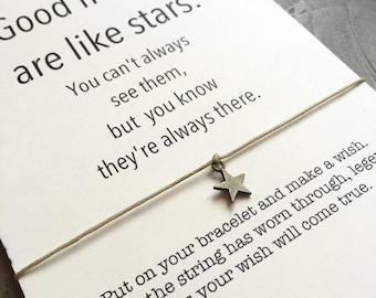 Friendship bracelet, Best friend bracelet, Wish bracelet, BFF bracelet, Good friends are like stars, Friendship, Best friend gift, A5