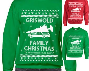 Griswold, Ugly Christmas Sweater, Griswold Family Ugly Christmas Sweater, Christmas Vacation Sweatshirt, Ugly Sweater, Funny Christmas