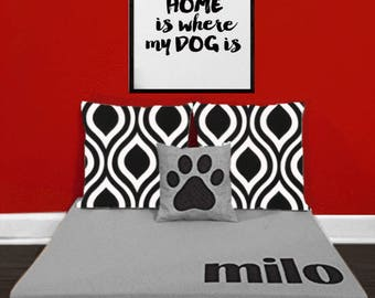 personalized dog bed | etsy