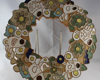 St. Andrews Monasteries Ceramic Wreath with Birds and Flowers