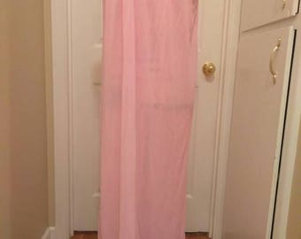1960s Pink Nylon Nightgown