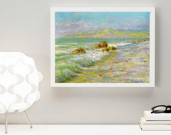 Seascape painting Original classical oil painting oil on canvas ocean painting home wall living room bedroom nursery interior decor sea