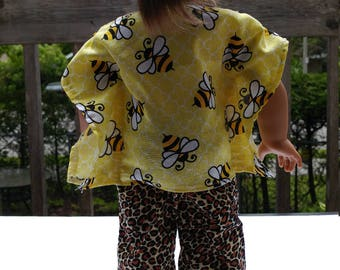 18 inch doll pants and bees top 18 inches of bees and 3/4 pants tunic