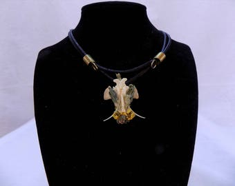 Bone necklace with fauna
