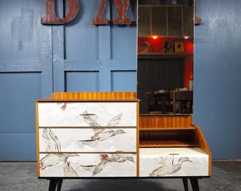 Mid Century Vintage Retro 1950s 1960s Upcycled Dressing Table Drawers