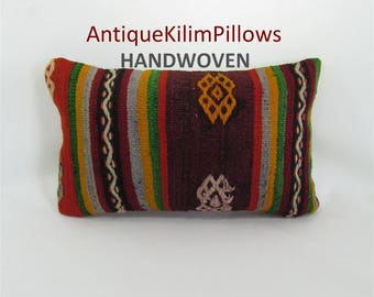 kilim pillow decorative pillow 12x20 lumbar pillow kilim pillow cover pillow case bohemian home decor kelim rug pillowcase pillows 001428