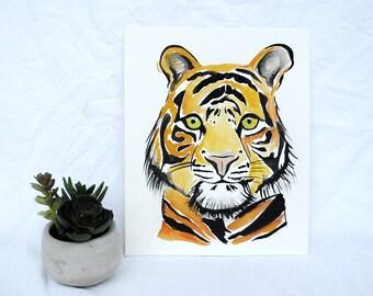 Original Watercolor Tiger