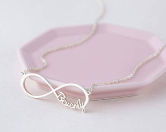 Personalized Infinity Necklace - Infinity Necklace with Names - Silver Name Necklace - Infinity Jewelry - Personalized Gift