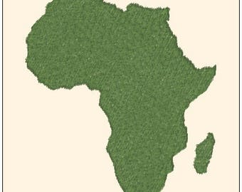 Beautiful Africa Continent Machine Embroidery Design Pattern Instant Download