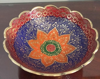 Hand Painted Indian Jewellery Dish