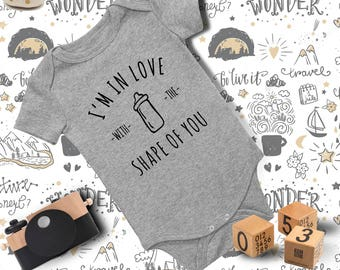Baby Outfit/ Baby Onesie/ Funny Baby Onesie/ Baby Boy Clothes/ Baby Shower Gift/ Baby Bodysuit/ Shape of You Onesie/ Ed Sheeran Shirt/ Song