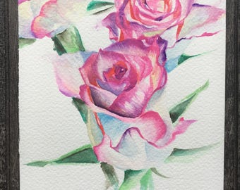 Original: Purple Watercolour Roses