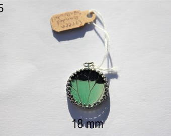 Green Banded Swallowtail Butterfly Necklace