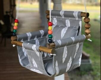 baby swing, cloth swing, nursery swing, outdoor swing, indoor swing, child's swing, child's birthday, baby shower gift, Child's Christmas
