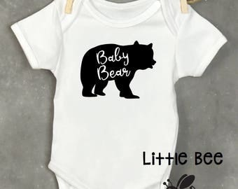Baby bear, Little bear, Mama bear, Baby onesie, Baby gift, Baby shower, New Baby, Baby Boy, Baby Girl, Body suit, Personalized