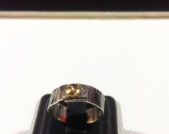 Ring screw, silver and gold,