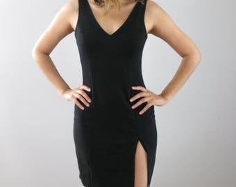 Vintage Just Choon Black Simple Dress 90s