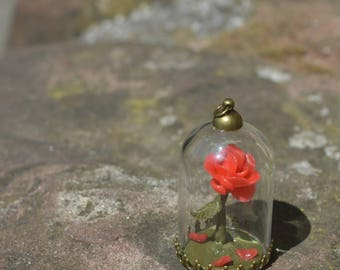Beauty & The Beast Rose - Polymer Clay