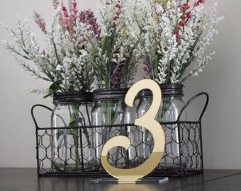 Parisian Mirror Table Numbers | Wedding Table Numbers | Party Decor | Standing Numbers | Centerpieces | Acrylic |