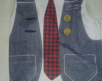 Vest tshirt with tie