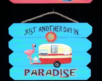 Paradise/Camper outdoor sign