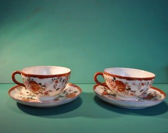 Chinese porcelain cups and saucers
