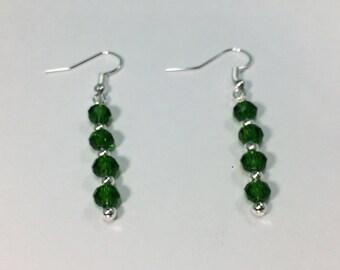 SALE 30% Chrome Diopside Earrings, Chrome Diopside Gemstone Earrings, gemstone Earrings,      March Birthstone Earrings
