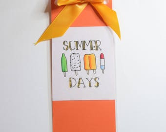Summer Days Popsicle Bookmark