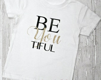 Girls BE~You~TIFUL Shirt by LoveJo&Co For Kids ~ Children's Clothing Sizes 0-3 months ~ size 10 ~ Free Shipping