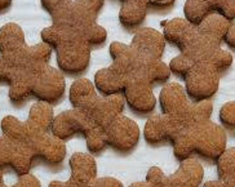 Mini Treats Gingerbread Homemade Healthy Baked Fresh Natural Dog Puppy Bone Snacks Gifts