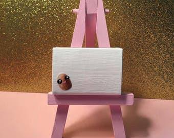 Potato kawaii Matchbox art, 3-D miniature greeting card, potato kawaii, Encouragement card