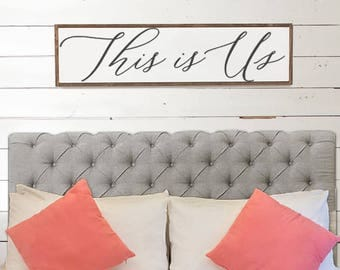 This is Us Wood Sign - Home Decor - Wood Signs - Wooden Signs - Wall Decor - Wall Art - Custom Wood Signs - Wall Decor -