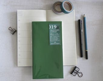 Genuine Traveler's Notebook Inserts- (019) FREE DIARY- WEEKLY -Midori- Regular Size, Travel Journal, Travelers Company